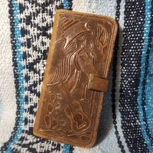 Leather horse mexico vintage wallet